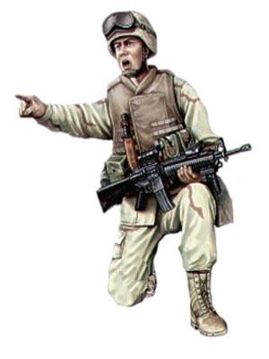 Soldado USA, Cuerpo de Marines, Irak, 2003.