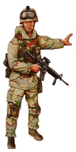 Soldado paracaidista USA, 101ª División Aerotransportada, Irak, 2003.