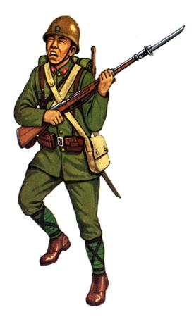 Soldados, Uniformes y Escenas de la Segunda Guerra Mundial (Dibujos y Pinturas) Nitoei-soldado-de-2c2aa-clase-cuerpo-de-infanteria-1941