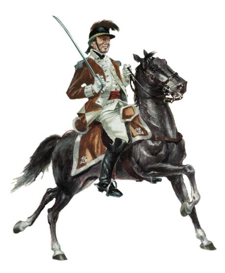 Oficial, Caballería Ligera Philadelphia, 1779.