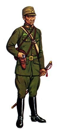 Soldados, Uniformes y Escenas de la Segunda Guerra Mundial (Dibujos y Pinturas) Shosa-mayor-de-caballeria-con-uniforme-de-servicio-1938