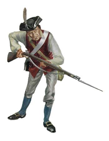 Soldado, 13ª Milicia de Albany, 1777.