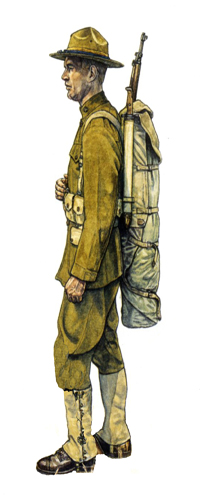 Soldado, 1ª División de Infantería, verano de 1918.
