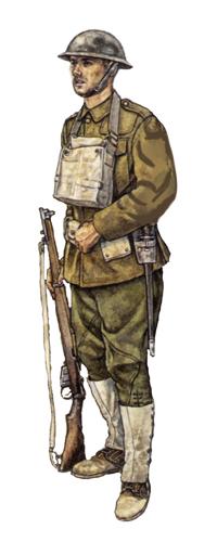 Soldado, 30ª División de Infantería, 1918.