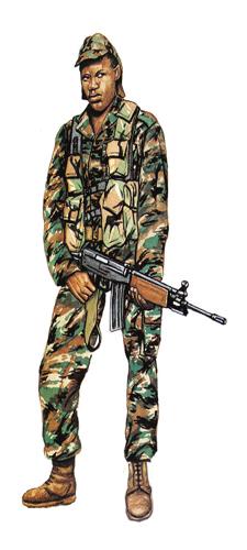 Soldado, 32 Batallón, 1987.