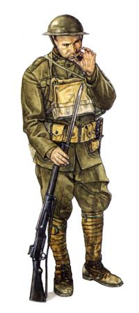 Soldado, 32º División de Infantería, 1918.
