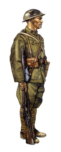 Soldado, 369º Regimiento de Infantería, Champagne, verano de 1918.