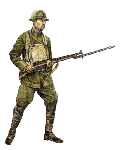 Soldado, 3ª División, Château-Thierry, Junio de 1918.