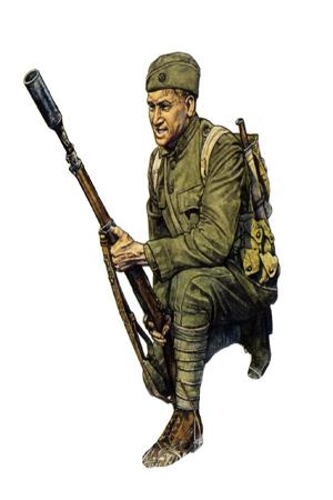 Soldado, 5ª División de Infantería, Abril de 1918.