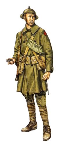 Soldado, 5ª División de Infantería, Noviembre de 1918.