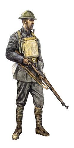Soldado, 5º de Marines, 2ª División, Belleau Wood, Junio de 1918.