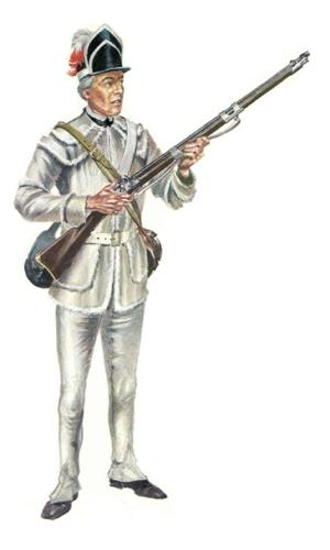 Soldado, 5º Regimiento Pennsylvania, 1781.
