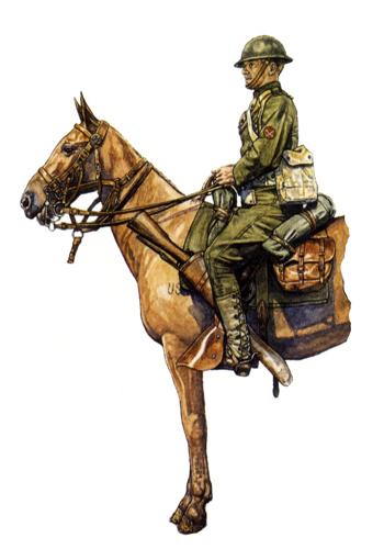 Soldado de 1ª Clase, 2º Regimiento de Caballería, 1918.