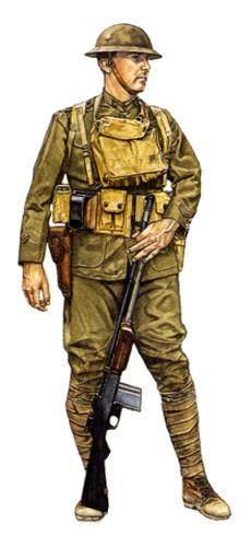 Soldado de 1ª clase, ametrallador BAR, 79ª División, Octubre de 1918.