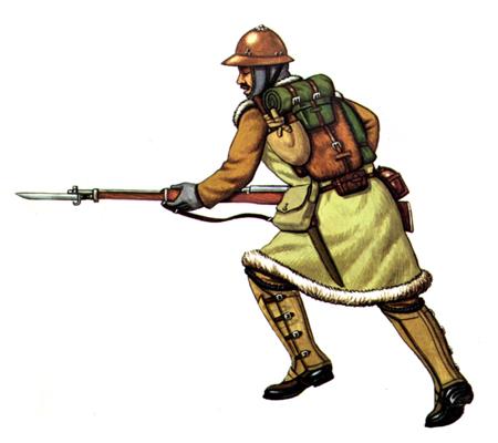 Soldados, Uniformes y Escenas de la Segunda Guerra Mundial (Dibujos y Pinturas) Soldado-de-infanteria-con-uniforme-de-invierno-1939