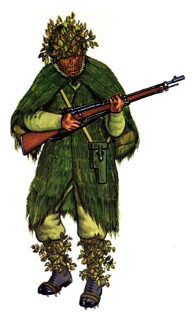 Soldados, Uniformes y Escenas de la Segunda Guerra Mundial (Dibujos y Pinturas) Soldado-de-infanteria-francotirador-1940