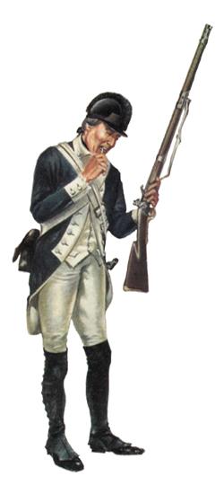 Soldado, Infantería ligera, 1780.