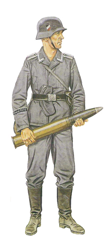 Soldados, Uniformes y Escenas de la Segunda Guerra Mundial (Dibujos y Pinturas) Suboficial-division-de-artilleria-francia-junio-de-1940