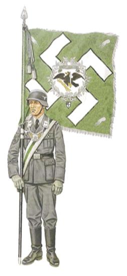 Suboficial, porta-estandarte, 1941-1942.