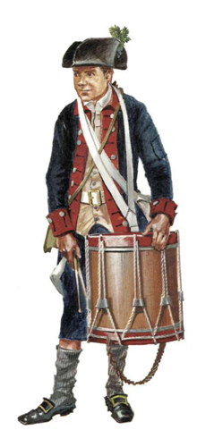 Tamborilero, 3er. Batallón de New Jersey, 1779.