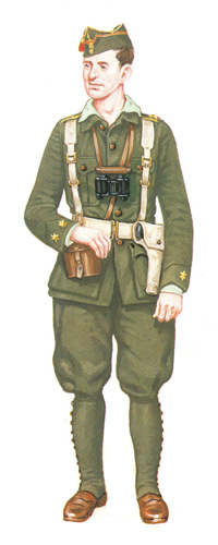Teniente, 1ª Bandera de la Legión, 1921-1927.