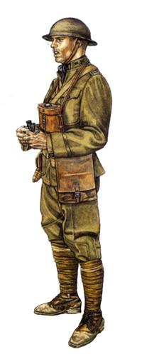 Teniente, 370º Regimiento de Infantería, Champagne, 1918.