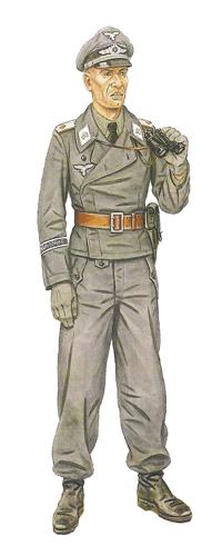 Teniente, con uniforme de la Luftwaffe, 1943.
