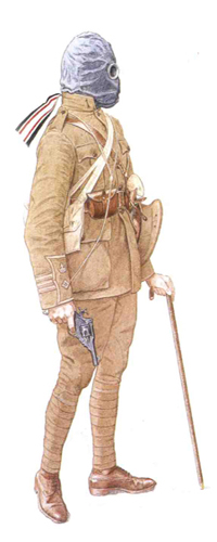 Teniente Coronel, 9º Batallón, The East Surrey Regiment, 24ª División, Loos, Francia, 1915.