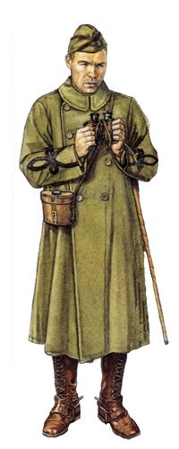 Teniente Coronel, Cuerpo de Artillería, 1918.