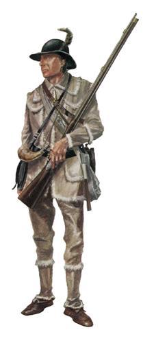 Tirador, 1er. Batallón de tiradores de Pennsylvania, 1975.