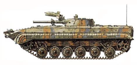 BMP-1, Brigada Mecanizada, Ejército Sirio, Altos del Golan, 1973.