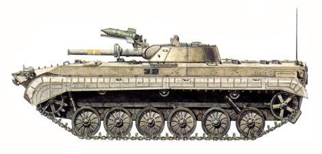 BMP-1 Irakí, Regimiento mecanizado, 6ª Brigada de blindados, 3ª División blindada 'Saladín', Kuwait, 1991.