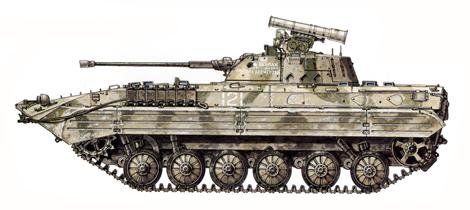 BMP-2, Regimiento de Asalto Aéreo Motorizado Jalalabad, Kabul, Afganistán, 1988.