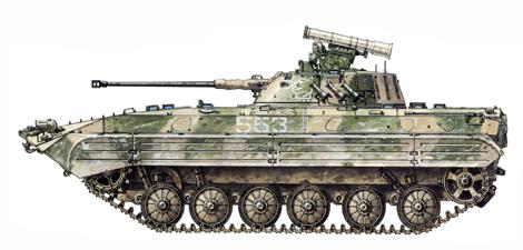 BMP-2, Regimiento de Infantería motorizada, 40º Ejército, Contingente de Fuerzas Especiales, Afganistán, 1985.