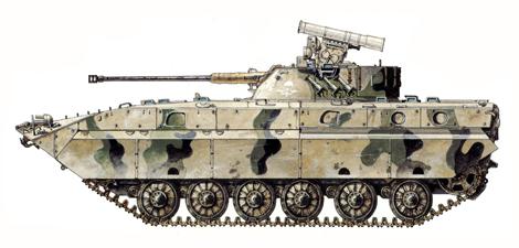 BMP-2D, Regimiento de Asalto aéreo Shinand, Provincia de Farah, Afganistán, 1987.