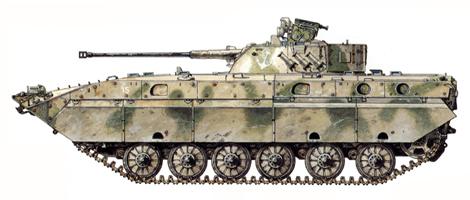 BMP-2D, Regimiento de Infantería Naval, Provincia de Paktia, Afganistán, 1985.