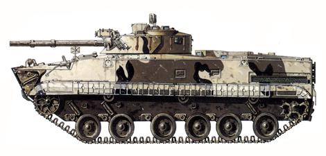 BMP-3, 2º División de Infantería motorizada Guardías Taman, Moscú, 1990.
