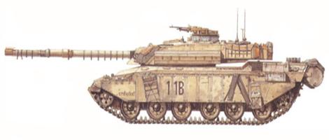 Challenger I Mk.2, 14º-20º King's Hussars, 4ª Brigada blindada, 1ª División blindada, Kuwait, Febrero de 1991.