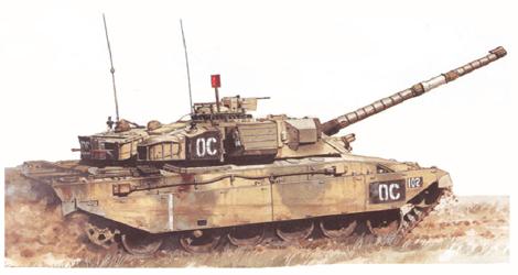Challenger I Mk.2, 1er. escuadrón blindado, The Queen's Royal Lancer's, BATUS, Canada, Junio de 1994.