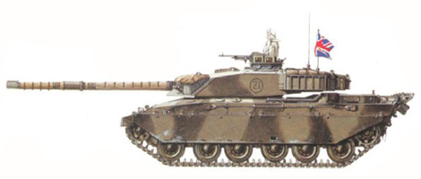 Challenger I Mk.2, Escuadrón C, The Royal Hussars, Fallinbostel, Alemania, Septiembre de 1986.