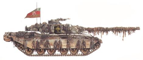 Challenger I Mk.2, Tanque de mando, HQ Escuadrón, 2º RTR, 7ª Brigada, 1ª Div. Blindada Reino Unido, Polonia, Septiembre de 1996.