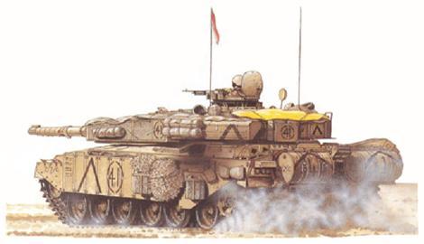 Challenger I Mk.3, Escuadrón C, Queen's Royal Irish Hussars, 1 Stalfords Battle Group, 7ª Brigada, 1ª Div