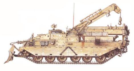 Challerger de Reparación y recuperación de vehículos, 6º Grupo de reparaciones, Real Cuerpo de Ingenieros, Kuwait, 1991.
