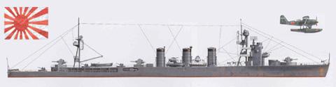 Crucero ligero 'ISUZU', Armada Imperial Japonesa, 1945.