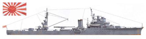 Crucero ligero 'KASHII', Armada Imperial Japonesa, 1945.
