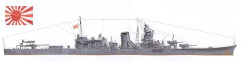 Crucero ligero 'OYODO', Armada Imperial Japonesa, 1944.