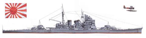 Crucero pesado 'MAYA', Marina Real Japonesa, 1944.