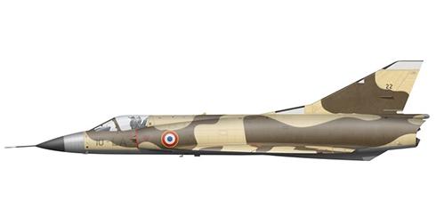 Dassault mirage III C perteneciente al 3º Escuadrón de Caza con base en Djibouti, Armee de l'Air, 1988.