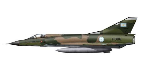 Dassault Mirage III EA, Fuerza Aérea Argentina, 1982.