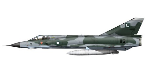 Dassault Mirage III EP, Fuerza Aérea de Pakistán, 1968.